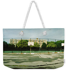 Basketball Court In A Public Park Weekender Tote Bag by Panoramic Images
