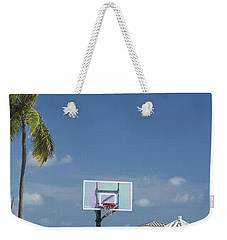 Basketball Goal On The Beach Weekender Tote Bag