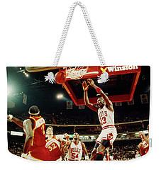 Basketball Match In Progress, Michael Weekender Tote Bag
