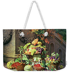Baskets Of Summer Fruits Weekender Tote Bag by William Hammer