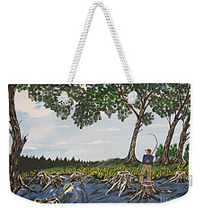 Bass Fishing In The Stumps Weekender Tote Bag