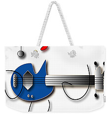 Weekender Tote Bag featuring the digital art Bass Guitar Girl by Marvin Blaine