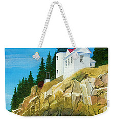Bass Harbor Lighthouse Weekender Tote Bag by Mike Robles