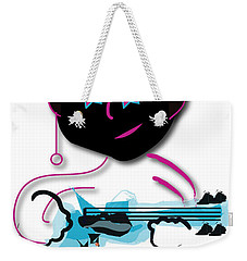 Weekender Tote Bag featuring the digital art Bass Man by Marvin Blaine