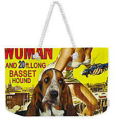 Basset Hound Art Canvas Print - Attack Of The 50ft Woman Movie Poster Weekender Tote Bag