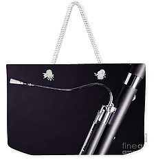 Bassoon Music Instrument Fine Art Prints Canvas Prints Greeting Cards In Black And White 3407.01 Weekender Tote Bag