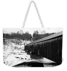 Bath Covered Bridge Weekender Tote Bag by Barbara Bardzik