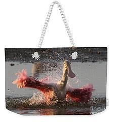 Bath Time - Roseate Spoonbill Weekender Tote Bag