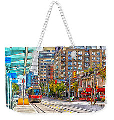 Bathurst Street Car Coming North To Queen Street Weekender Tote Bag by Nina Silver