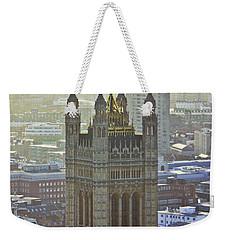 Battersea Power Station And Victoria Tower London Weekender Tote Bag by Terri Waters