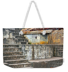 Weekender Tote Bag featuring the photograph Battery Chamberlin by Kate Brown