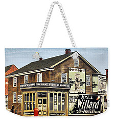 Weekender Tote Bag featuring the painting Bay And Adelaide Streets 1910 by Kenneth M  Kirsch