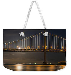 Bay Bridge Moon Rising Weekender Tote Bag