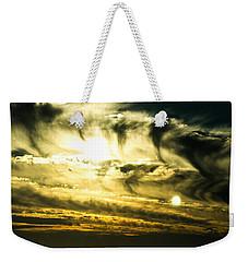 Bay Bridge Sunset Weekender Tote Bag by Angela DeFrias