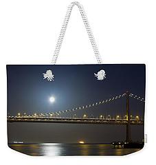 Bay Bridge Supermoon Weekender Tote Bag