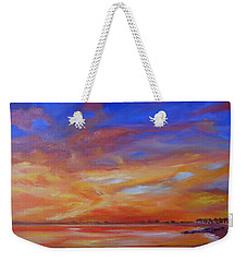 Bay Of Hythe On Fire Weekender Tote Bag