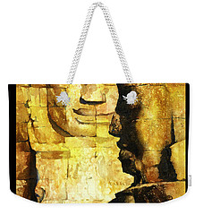 Bayon Khmer Temple At Angkor Wat Cambodia Weekender Tote Bag