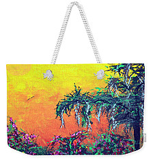 Weekender Tote Bag featuring the painting Bayou Honeymoon by Alys Caviness-Gober