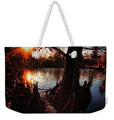 Weekender Tote Bag featuring the photograph Bayou Sundown by Robert McCubbin