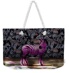 Be Courageous - Be Different - Zebra Weekender Tote Bag
