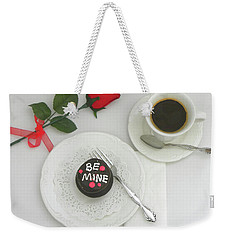 Weekender Tote Bag featuring the photograph Be Mine by Sandi OReilly