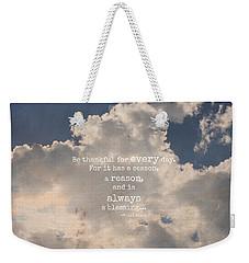 Be Thankful Weekender Tote Bag
