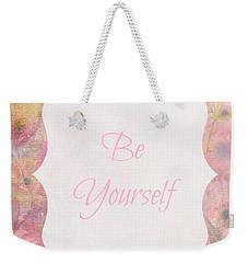 Be Yourself Daisies Weekender Tote Bag