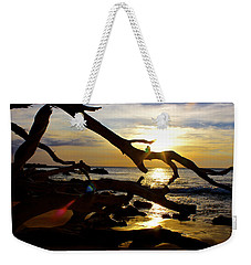 Beach 69 Hawaii At Sunset Weekender Tote Bag