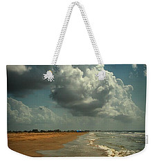 Beach And Clouds Weekender Tote Bag by Linda Unger