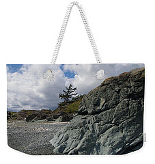 Beach At Fort Rodd Hill Weekender Tote Bag