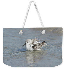 Beach Bird Bath 4 Weekender Tote Bag