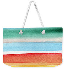 Beach Blanket- Colorful Abstract Painting Weekender Tote Bag