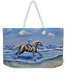 Beach Blonde Running Mates Weekender Tote Bag