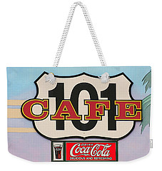 Beach Cafe Weekender Tote Bag by Art Block Collections