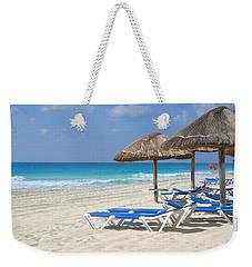 Beach Chairs In Cancun Weekender Tote Bag