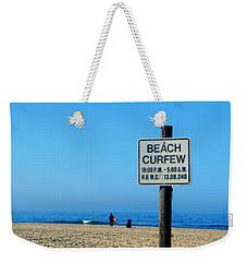 Beach Curfew Weekender Tote Bag by Tammy Espino