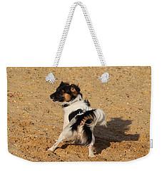 Beach Dog Pose Weekender Tote Bag