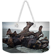 Beach Driftwood In Color Weekender Tote Bag