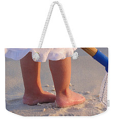 Weekender Tote Bag featuring the photograph Beach Feet  by Nava Thompson