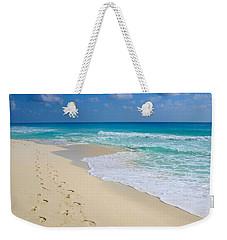 Beach Footprints Weekender Tote Bag