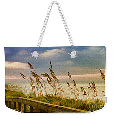 Beach Grass Weekender Tote Bag by Deborah Benoit