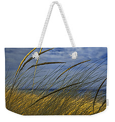 Beach Grass On A Sand Dune At Glen Arbor Michigan Weekender Tote Bag