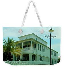 Beach House - Bay Saint Louis Mississippi Weekender Tote Bag by Deborah Lacoste