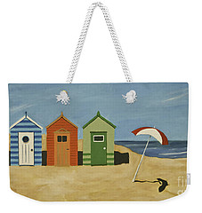 Beach Huts Weekender Tote Bag