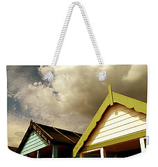 Weekender Tote Bag featuring the photograph Beach Huts by Vicki Spindler