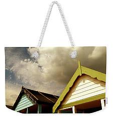 Beach Huts Weekender Tote Bag by Vicki Spindler