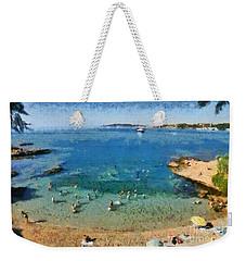 Beach In Vouliagmeni Weekender Tote Bag