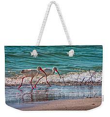 Beach Jogging In Twos Weekender Tote Bag by Hanny Heim