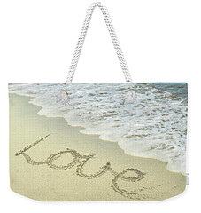 Weekender Tote Bag featuring the photograph Beach Love by Jocelyn Friis