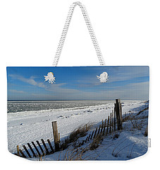Beach On A Winter Morning Weekender Tote Bag